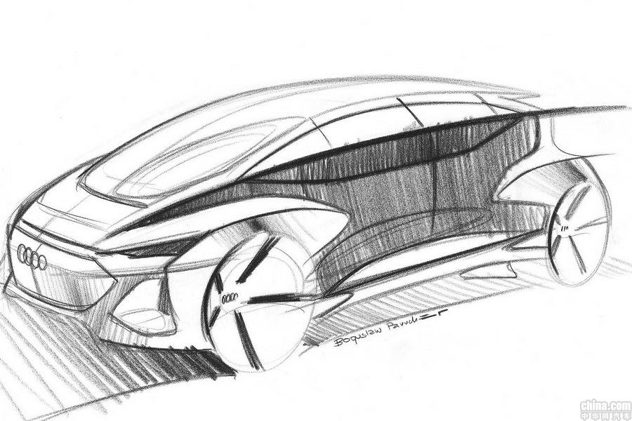 奥迪AI:me概念车草图 于4月15日上海车展亮相