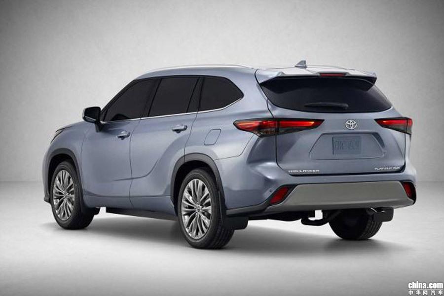 于2019纽约车展首发 丰田全新一代汉兰达官图发布