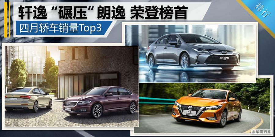 """四月轿车销量Top3:轩逸""""碾压""""朗逸 荣登榜首"""