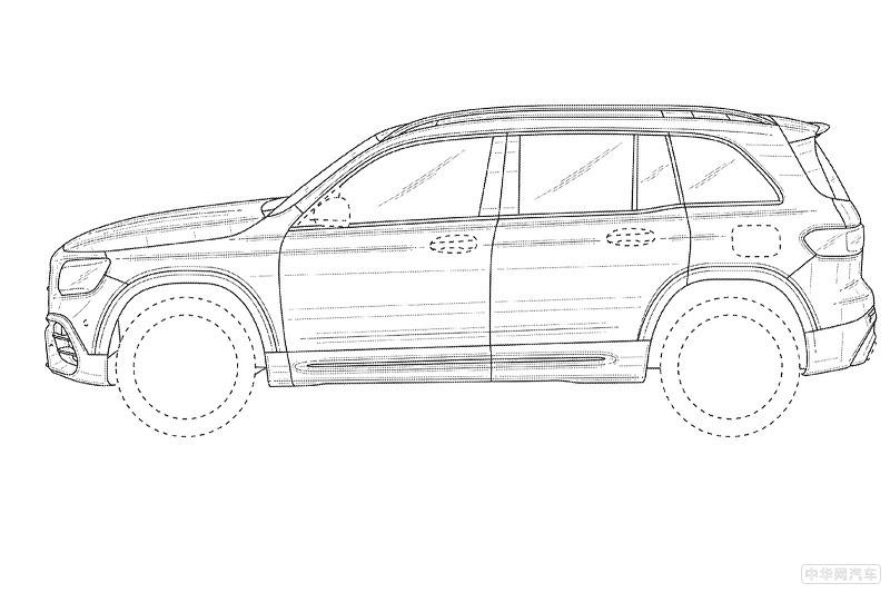 7座SUV性能霸主来了 奔驰AMG GLB 45专利图流出