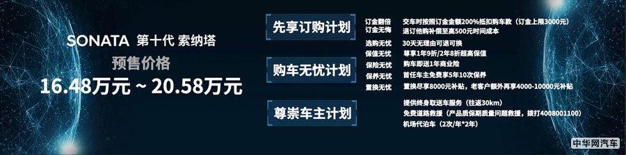 预售价16.48万元起 第十代索纳塔亮相粤港澳车展