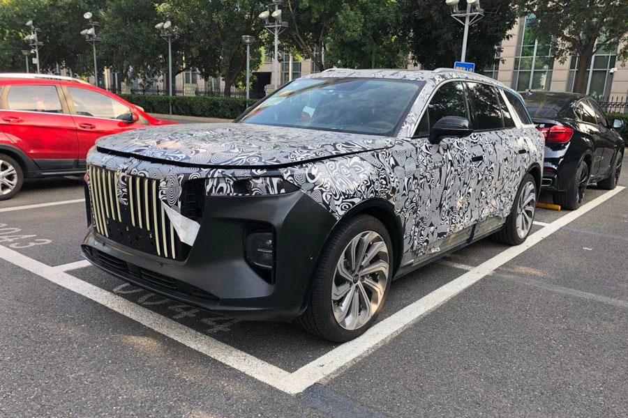 冲击纯电大型SUV市场 红旗HS9纯电版路试谍照曝光