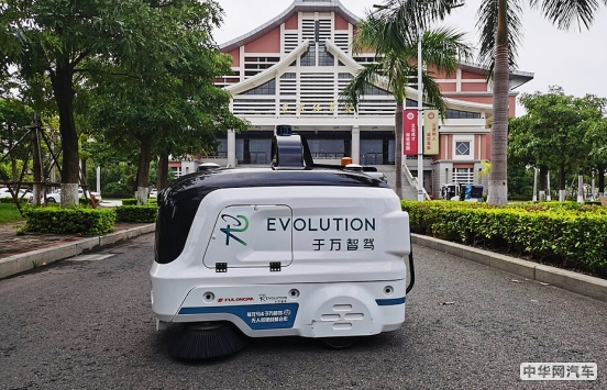 于万智驾亮相集美大学,牵手龙马环卫打造无人驾驶环卫示范项目