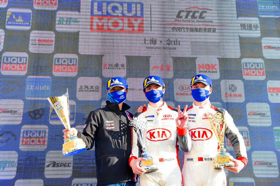 CTCC上海赛区连夺两冠 东风悦达起亚车队大获全胜