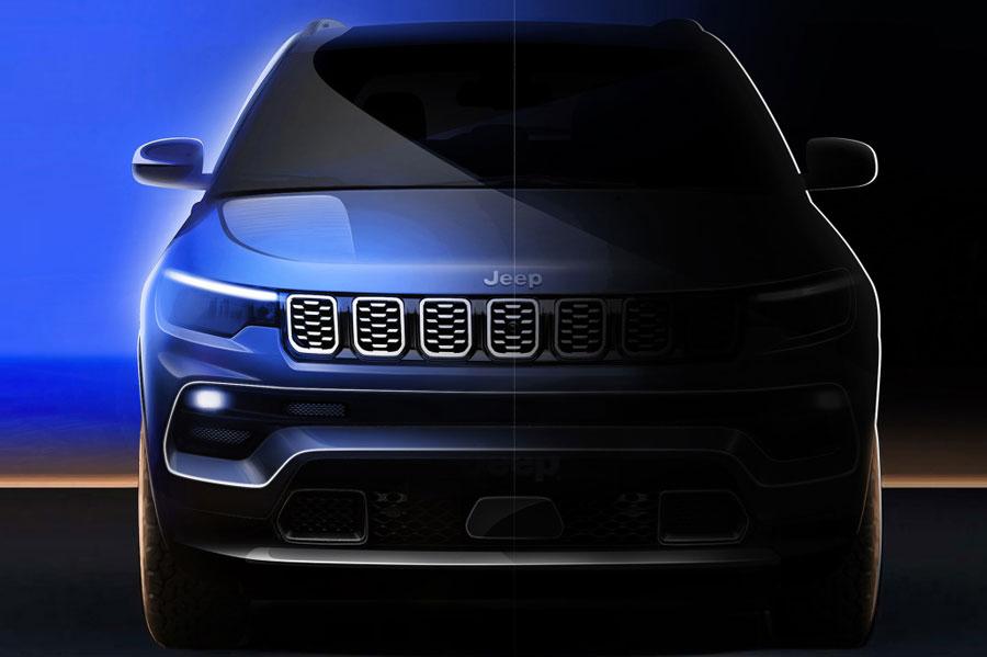 将于广州车展亮相 新款Jeep指南者预告图发布