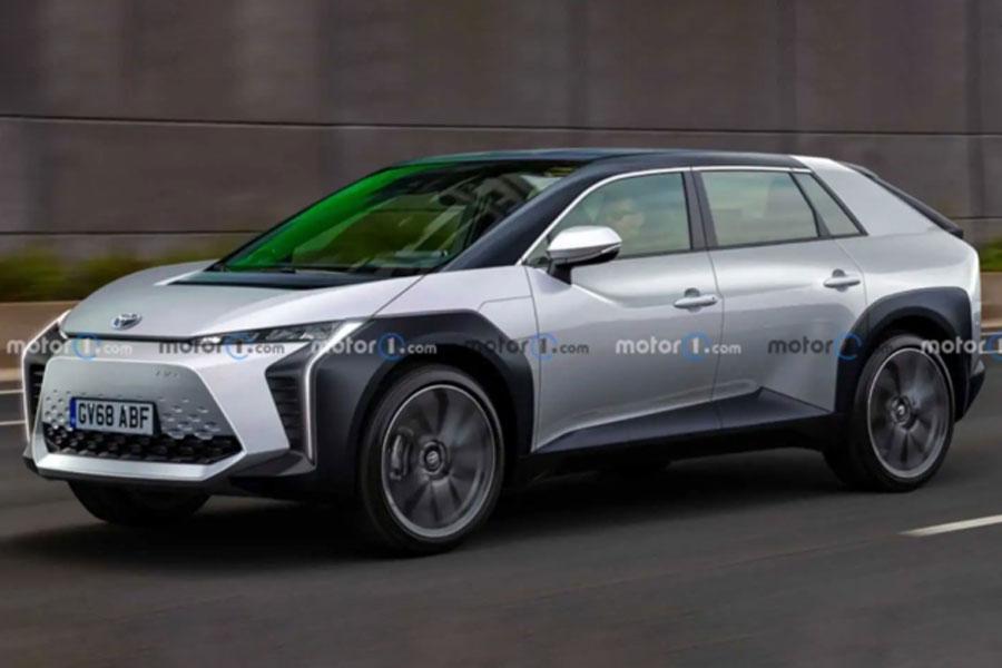 代号或为BZ3 丰田跨界电动中型车最新渲染图