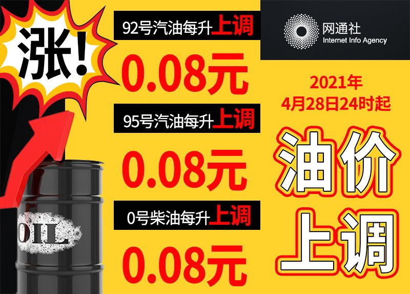 4月28日24时起油价上涨 加满一箱将多花4元