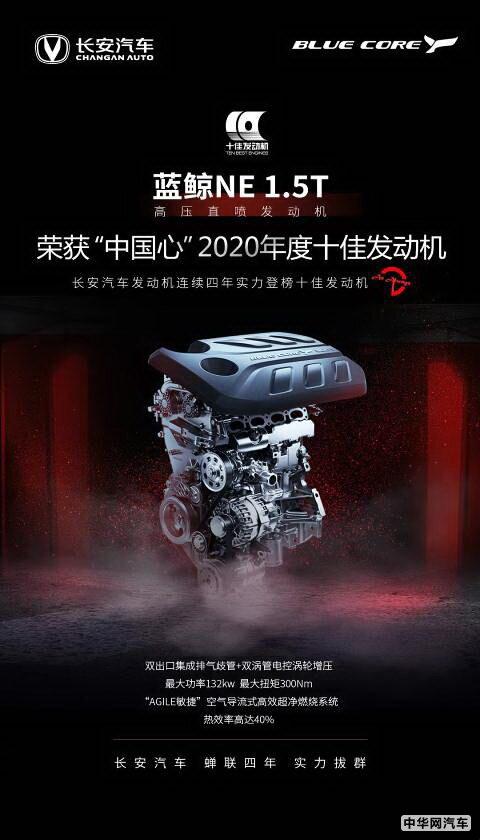 高转速保持259h 长安蓝鲸1.5T引擎创吉尼斯纪录