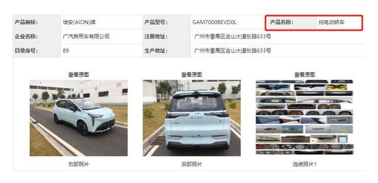 曝广汽埃安AION Y申报信息 SUV造型/轿车的定位?