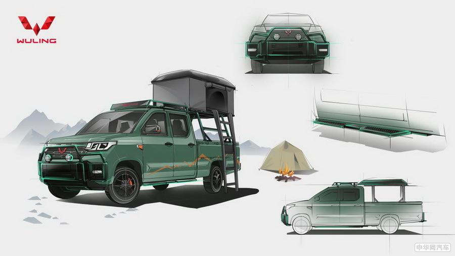 五菱征途将推野营定制版 可装露营帐篷