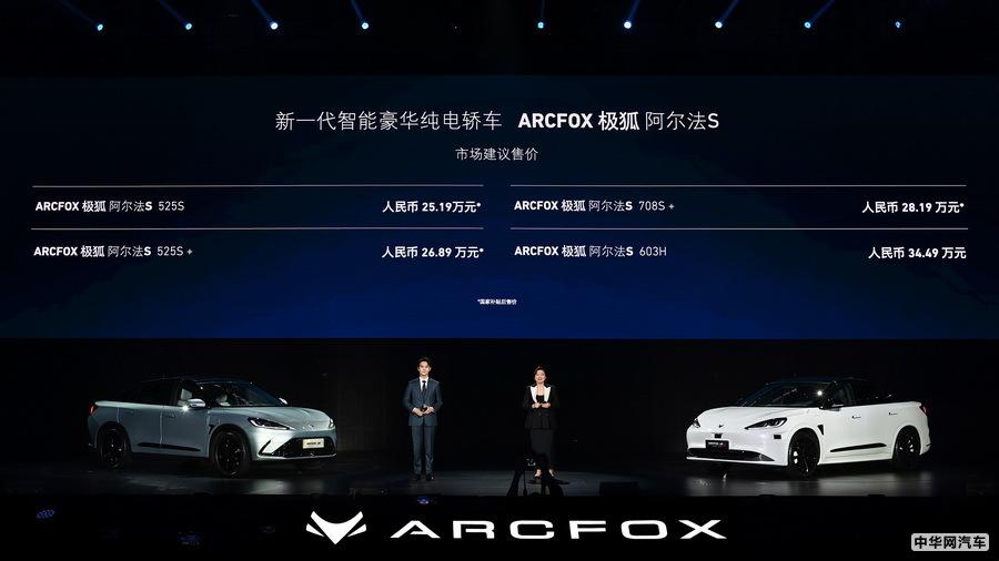 极狐阿尔法S售25.19万起 首款搭3激光雷达
