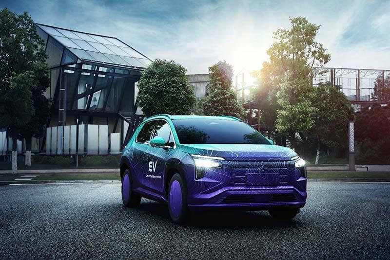 融合三菱家族设计 全新纯电动SUV阿图柯谍照