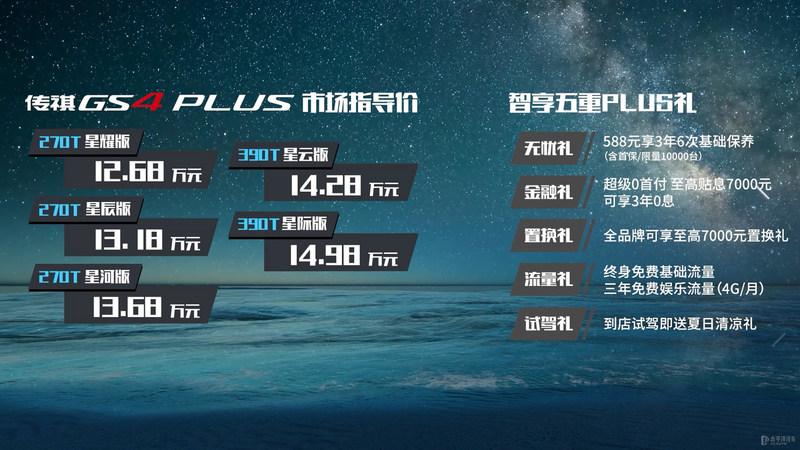 广汽传祺GS4 PLUS上市 售价12.68-14.98万元