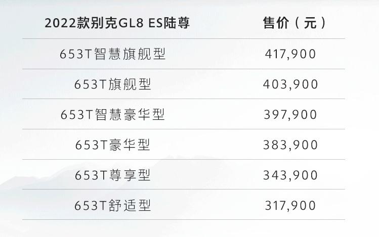 2022款别克GL8 ES陆尊上市 售31.79万起