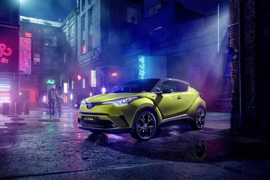 丰田+JBL推出特别版 丰田C-HR Neon Lime官图发布