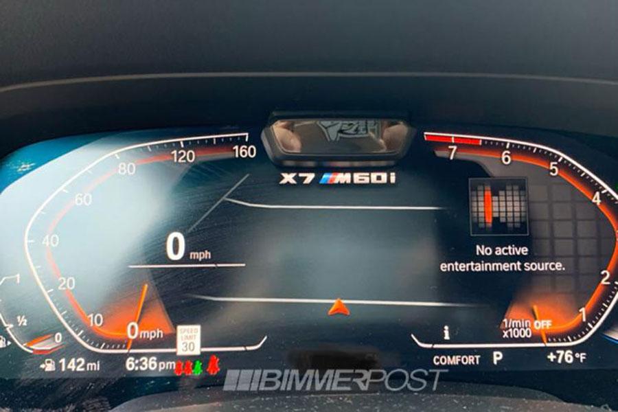 将有望搭载V12发动机 宝马X7 M60i仪表盘曝光