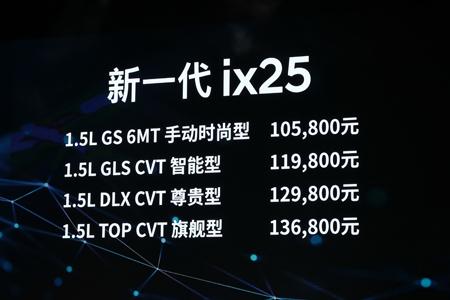 售价10.58-13.69万元 北京现代新一代ix25上市