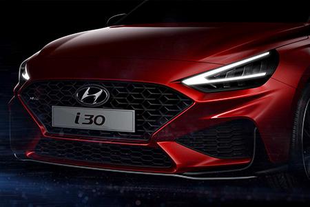将于日内瓦车展首发 现代新一代i30预告图发布